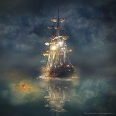 night sail by evenliu photomanipulation on 500px