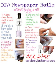 DIY | Newspaper nails