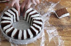 Easy Ice Cream Sandwiches Cake