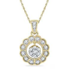 18kt Gold Sun Shine Diamond Pendant : Shower Your Love This Valentine