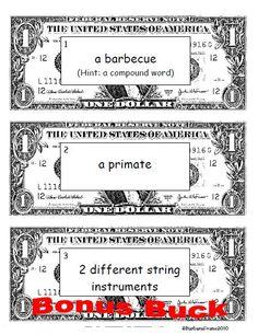 Itsabouttimeteachers: One Dollar Words FREEBIE