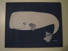 marushka vintage whale art canvas