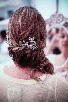 romantic hair + pin