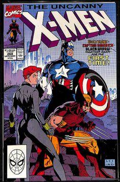 Uncanny X-Men 268 Marvel 1990 VF Wolverine Captain America Black Widow Jim Lee Marvel Comic Books, Comic Book Heroes, Comic Books Art, Comic Book Superheroes, Marvel Comic Character, Lego Marvel, Marvel Heroes, Comic Book Artists, Comic Book Characters