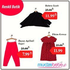 Renkli Butik; miniklerinizin her zaman kendilerini rahat ve şık hissetmeleri için en yeni ürünleri ile şimdi MucizeBebe.com'da!