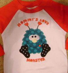 Valentines Monster Bodysuit by BibsandBurps on Etsy, $20.00
