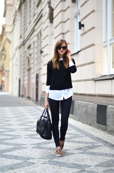 Topshop shirt, Choies sweater, Topshop jeans, Choies slip ons, Celine bag, Michael Kors watch, Celine sunglasses