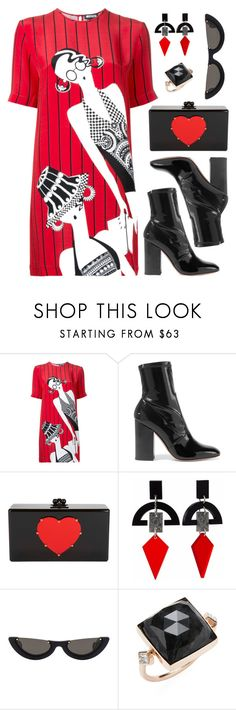 """""""T-shirtDress"""" by alexa-girl2 ❤ liked on Polyvore featuring Holly Fulton, Valentino, rag & bone, Toolally, PAWAKA and Jacquie Aiche"""