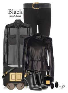 Tom Ford Black Good Jeans by nuria-pellisa-salvado on Polyvore featuring moda and Tom Ford