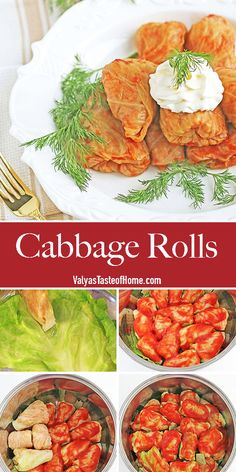 Cabbage Rolls are basically the trademark of Ukrainian cuisine. A timeless delicacy. Throughout my cooking experience, I've noticed that cabbage rolls are made in many different ways, but this popular dish's place is secure on the holiday table. I am sharing a recipe that is very special to me as it was passed down by my mother. But it is also special in the way it turns out and tastes. #cabbagerolls #golubtsi #maindish #valyastasteofhome | www.valyastasteofhome.com Holiday Recipes, Great Recipes, Cabbage Rolls, Taste Of Home, Chana Masala, Main Dishes, Breakfast Recipes, Good Food, Appetizers