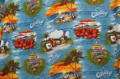 Castaway Cay Disney Cruise Line DCL Hawaiian Men Shirt Aloha Large Retired #DisneyParksExclusive