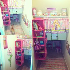 Princess club house for my niece!  (Closet under staircase)