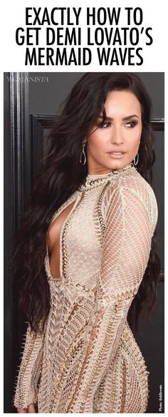 Want to know how to get the perfect mermaid waves? We've got exactly how Demi Lovato gets her waves!
