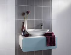 Fusion White-Grey Bathroom Wall Tile  For Liz