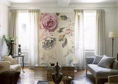 Diese Vintage Rose Muster-Tapete ist speziell und Sonderanfertigungen fast jeder Größe von Ihre Wände passen! Du kannst es als Haupt-Muster für eine