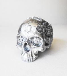 Machine Skull Human Skull Steampunk Steampunk by hodihomedecor