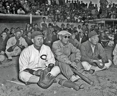 Korean Baseball: 1945 At a game in Seoul during the fall of 1945, the Korean players took the game seriously. And they were good players, beating the US Army 4-3.