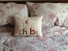 Em Teacup wedding personalised name pillow, perfect pressie ❤️