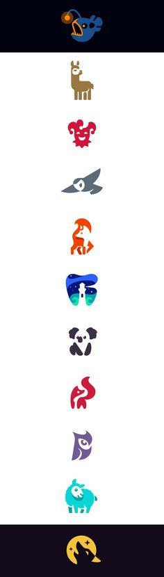 Negative space logos 2018 #negative #space #negativespace #logo #logodesign #design #brand #identity #creative #flat #vector #illustration #graphic #design #graphicdesign #animals #animal #fox #wolf #moon #howlingwolf #howling #owl #barn #barnowl #tooth #lighthouse #clown #joker #sheep #koala #fish #lama #anglerfish #angler #kreatank #creatank