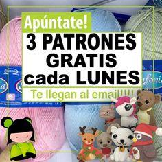Patrón gratis amigurumi de UNICORNIO - amigurumis y más Tutorial Amigurumi, Charmander, Amigurumi Doll, Teddy Bear, Knitting, Sewing, Toys, Pokemon, Crafts