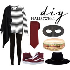 hamburglar Costume by fashionistany on Polyvore featuring Masquerade, Vans, Lanvin, Zimmermann and diycostume
