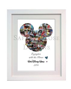 Perfect for displaying your Disney vacation photos and magical memories! Maybe even your Disney Wedding or Engagement photos. Photo Collages #disney #disneysecrets