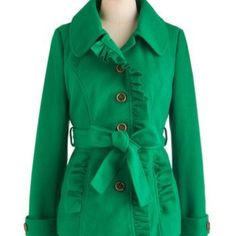 NWT Trim and Vigor Modcloth ruffle jacket coat XSNWT