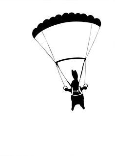 Print Club London – Parachute Rabbit