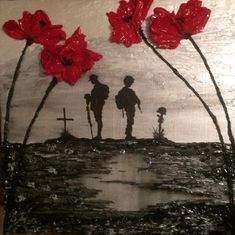 Remember And Reflect  By Jacqueline Hurley  War Poppy Collection 100 Year Centenary painting
