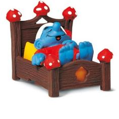 Bed With Smurf Figure from Schleich Toys