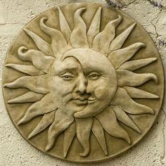 Garden plaque sun moon face   Neal Oxborrow   Flickr