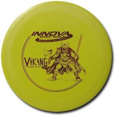 Innova DX Viking by Innova. $6.90. The Viking is one of our most versatile distance drivers from start to finish. The Viking is a long straight flyer with a very predictable fade at the end of the flight. This is an excellent disc for throwing both side arm and backhand shots due to its easy grip and neutral flight. The Viking is perfect for holding long, line drive shots as well as graceful left or right turning shots.