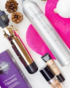 This week Im excited to share 5 amazing products that I've recently discovered:  1. FakeBake Flawless Self Tanner 2. Kenra Volume Hair Spray  3. Hot Tools 2 Curling Iron  4. makeup brush cleaning mat  5. Make Up For Ever foundation and concealer
