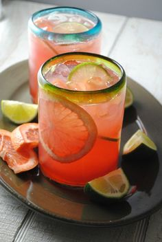 Grapefruit Cranberry Tequila Cooler - A tart, but refreshing tequila cooler made with fresh grapefruit juice and cranberry juice is all you need to take your weekend fiesta to the next level.