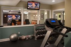 Gym Photos Basement Gym Design Ideas, Pictures, Remodel, and Decor - page 4