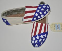 Hand Painted TOMS American Flag by YirkasBoutique on Etsy, $80.00