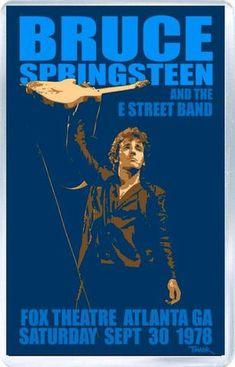 Bruce Springsteen (Atlanta 78) - Plastic Fridge Magnet