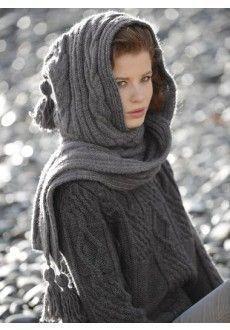 écharpe capuche celtique modèle gratuit tricot  A L'Estudiantine