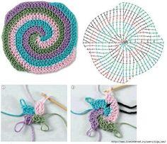 Para un tejido en espiral! :D