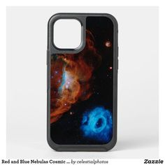 Red and Blue Nebulas Cosmic Reef Celestial Photo OtterBox iPhone Case Nebulas, Synthetic Rubber, Online Gifts, Slipcovers, Protective Cases, Cosmic, Red And Blue, Apple Iphone, Personalized Gifts