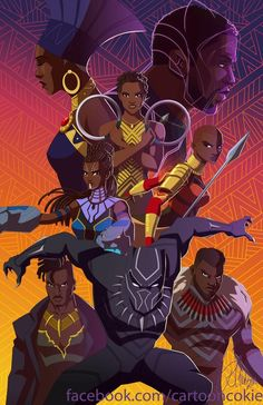 Wakanda The Comic Ninja — cartooncookie: Black Panther! Black Panther Art, Black Panther Marvel, Marvel Heroes, Marvel Avengers, Comic Books Art, Comic Art, Wakanda Marvel, Cartoon Cookie, Black Comics