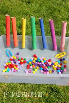 Colour sorting and fine motor activity