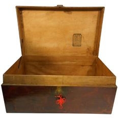 Oriental Furnishings - Asian Antique Red Leather Wraped Hope Chest, $345.00 (http://www.orientalfurnishings.com/asian-antique-red-leather-wraped-hope-chest/)