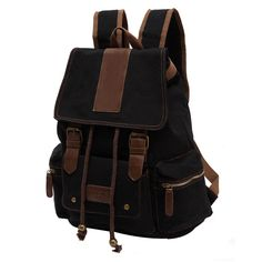 E1048 HOT SALE CAMPING HIKING BACKPACK CANVAS BAG UNISEX MEN AND WOMEN COLLEGE STUDENT BOOK BAG WHOLESALE
