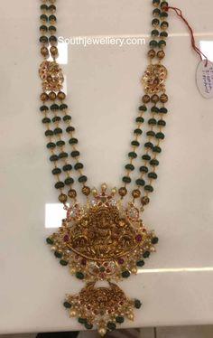 Antique Jewellery Designs, Beaded Jewelry Designs, Jewelry Design Earrings, Gold Jewellery Design, Bead Jewellery, India Jewelry, Temple Jewellery, Gold Pendent, Pendant