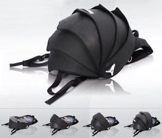 Cyclus eco-design magnetic-shut armadillo-like shell backpack Armadillo, Pokemon Fusion, Tyres Recycle, Recycled Tires, Upcycle, Pill Bug, Soldier Costume, Duffle, Eco Friendly Bags