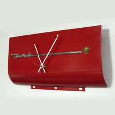 Ford V8 Wall Clock  1955 Ford Fairlane Glove Box by StarlingInk, $99.99