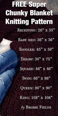 FREE Super Chunky Blanket Knitting Pattern!