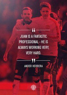 Ander Herrera on Juan Mata
