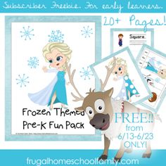 Frozen Pre-K pack and more!